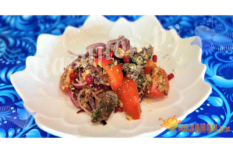 salat-s-kurinoj-pechenyu